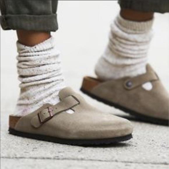 Birkenstock Boston Suede Clogs Shoes
